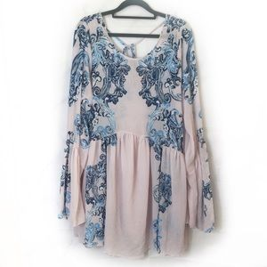 Free People Semi Sheer Floral Tunic
